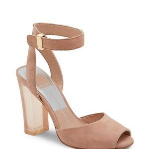 NEVER WORN Pink lucite heels by dolce vita